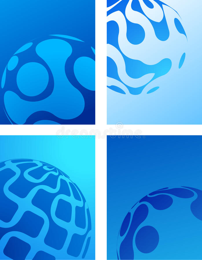 Μπλε αφηρημένη ανασκόπηση σφαιρών διανυσματική απεικόνιση