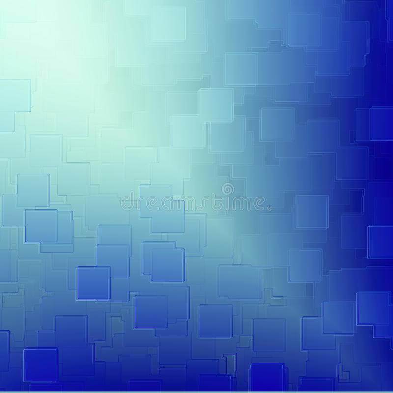 Μπλε αφηρημένη σύσταση αναγλύφου κύβων ανασκόπησης διανυσματική απεικόνιση
