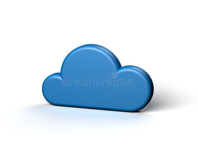 Μπλε αφηρημένο σύννεφο στην άσπρη ανασκόπηση απεικόνιση αποθεμάτων