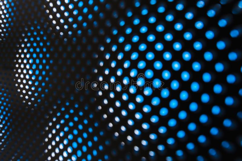 Μπλε αφηρημένο υπόβαθρο θαμπάδων βασισμένος του μετάλλου, των κύκλων και των σκιών, σύσταση της άσπρης επιφάνειας με πολλές στρογ ελεύθερη απεικόνιση δικαιώματος