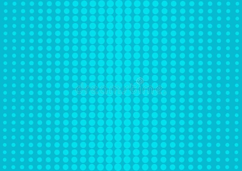 Μπλε αφηρημένο υπόβαθρο με τα ημίτοά σημεία στο λαϊκό ύφος τέχνης r ελεύθερη απεικόνιση δικαιώματος