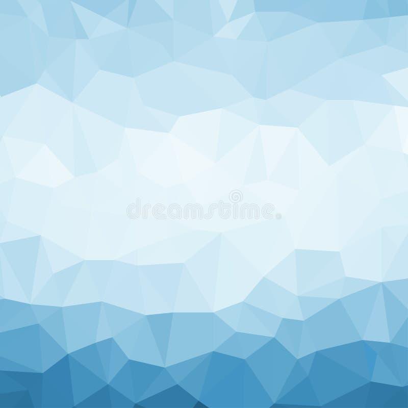 Μπλε αφηρημένο υπόβαθρο τριγώνων διανυσματική απεικόνιση
