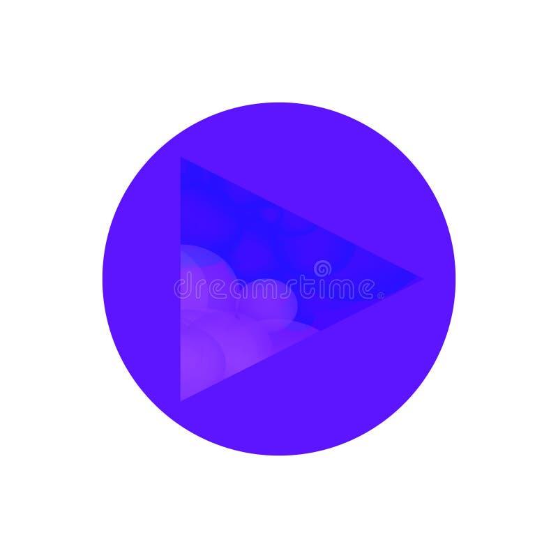 Μπλε αφρώδες αρχικό εικονίδιο παιχνιδιού απεικόνιση αποθεμάτων
