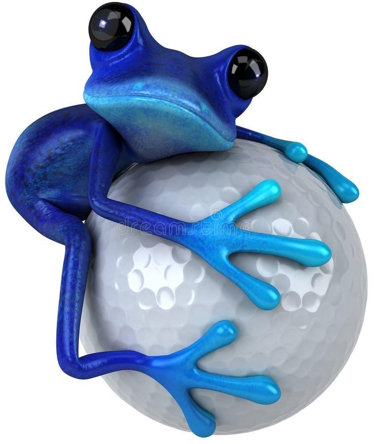 μπλε βάτραχος διανυσματική απεικόνιση