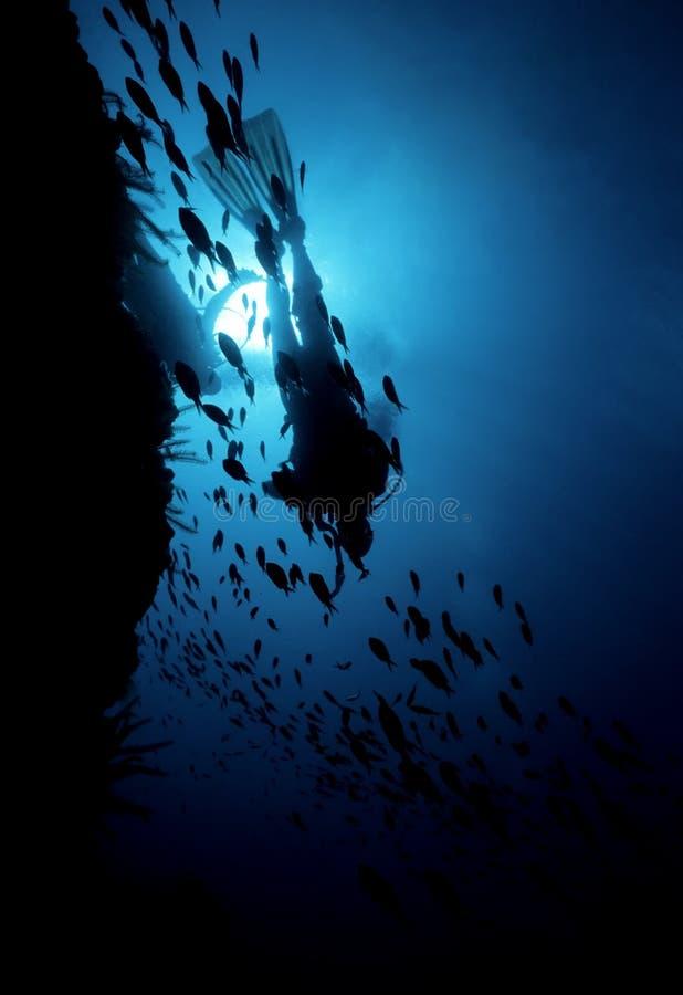μπλε βαθύς στοκ φωτογραφία με δικαίωμα ελεύθερης χρήσης