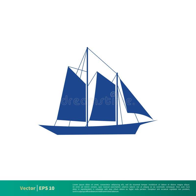 Μπλε βαρκών ναυσιπλοΐας σχέδιο απεικόνισης προτύπων λογότυπων εικονιδίων διανυσματικό r διανυσματική απεικόνιση