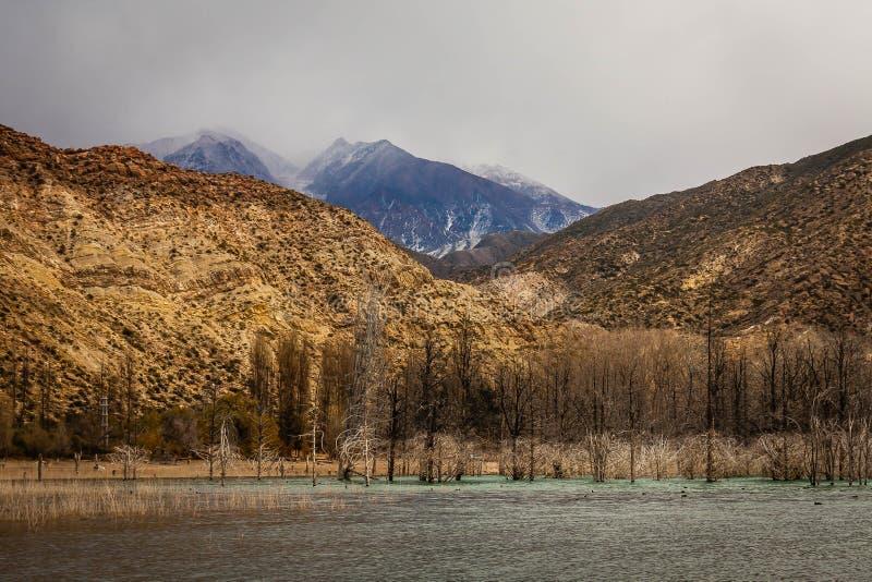 Μπλε βουνά στο άπειρο στοκ εικόνες με δικαίωμα ελεύθερης χρήσης