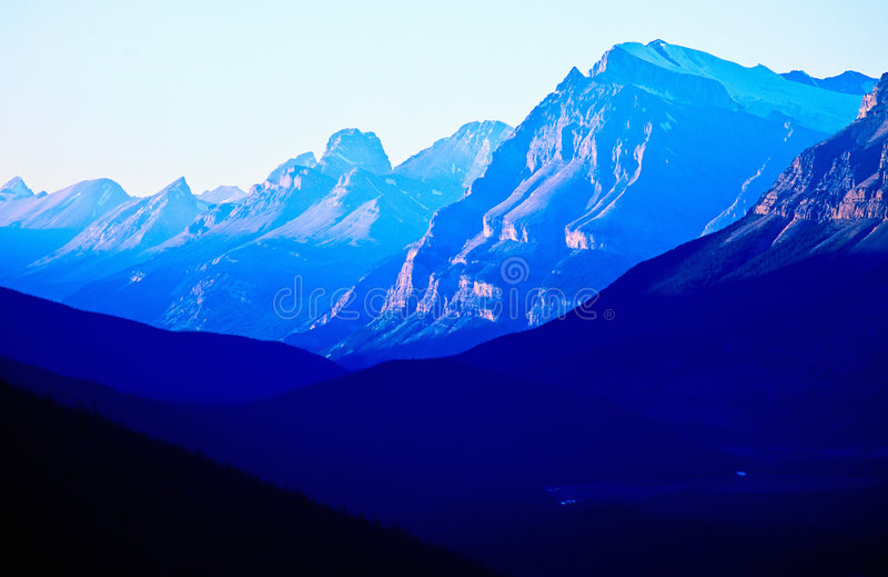 μπλε βουνό στοκ εικόνες