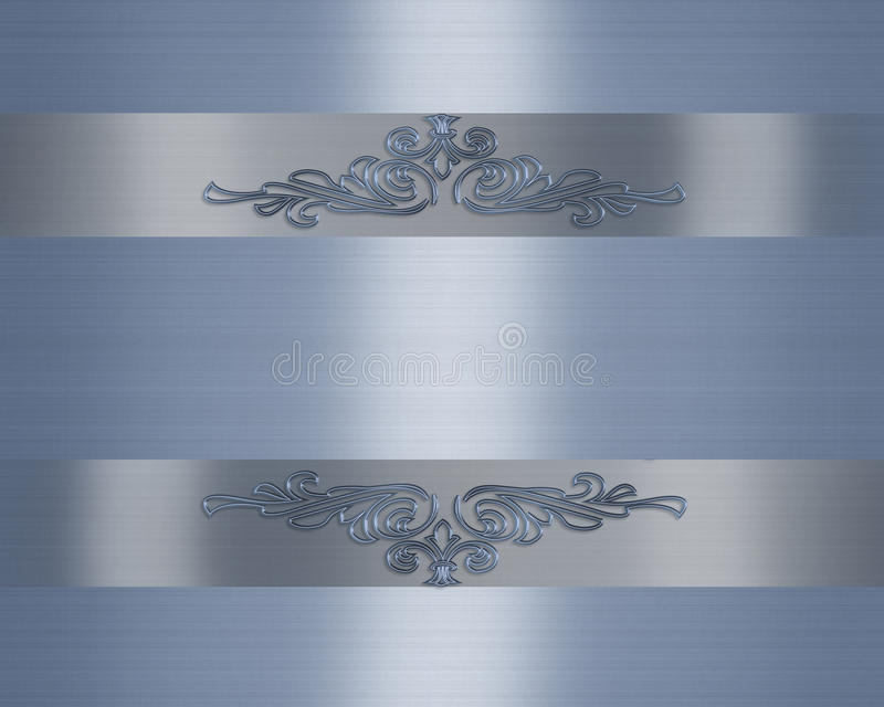 μπλε γάμος σατέν πρόσκληση ελεύθερη απεικόνιση δικαιώματος