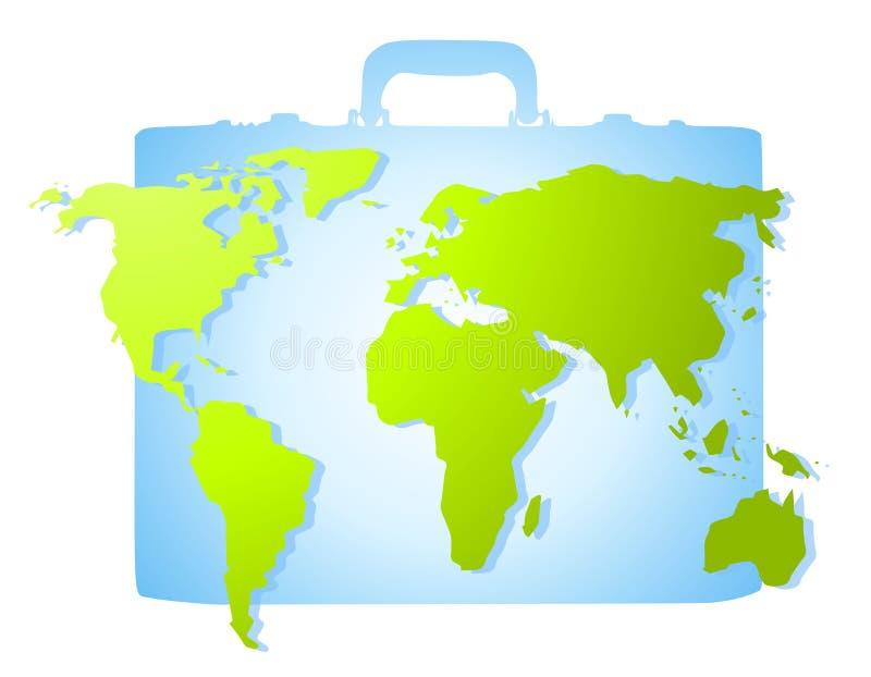 μπλε γήινος χάρτης χαρτοφ&u ελεύθερη απεικόνιση δικαιώματος