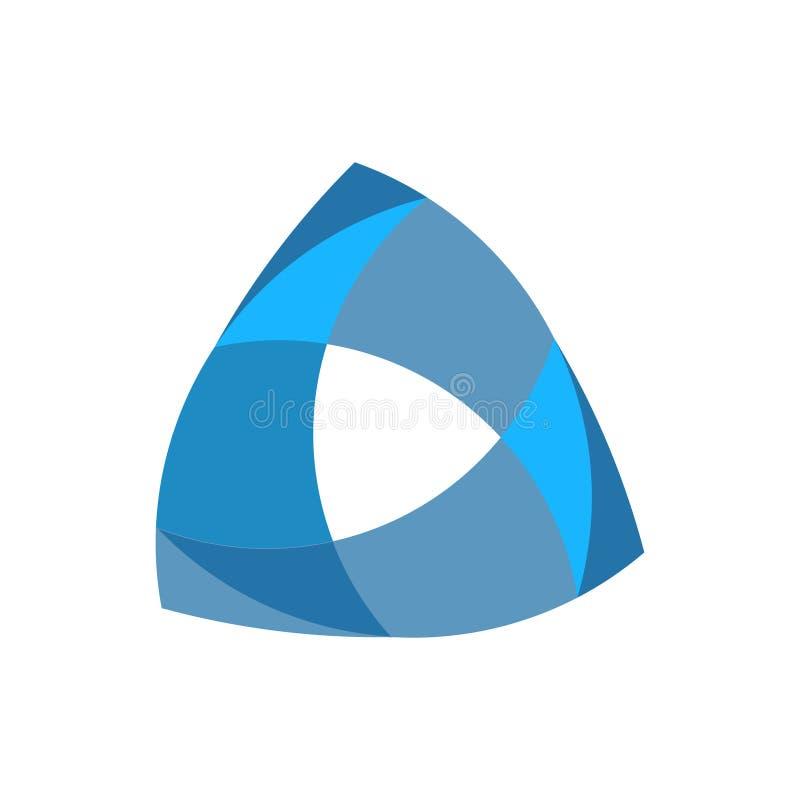Μπλε γεωμετρικό αφηρημένο πρότυπο λογότυπων, logotype, έμβλημα τρίγωνο ελεύθερη απεικόνιση δικαιώματος