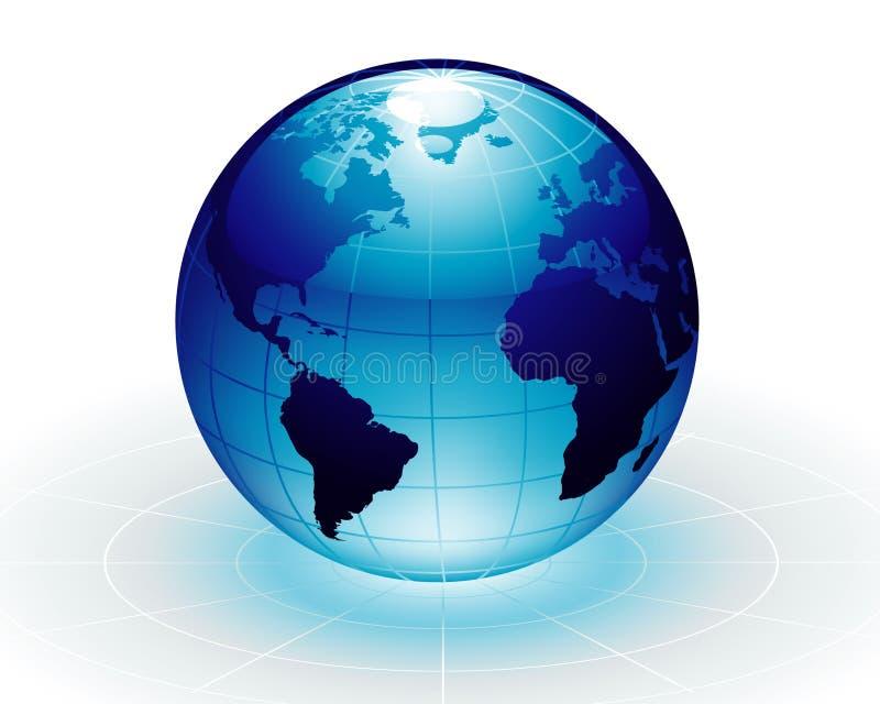 μπλε γη απεικόνιση αποθεμάτων
