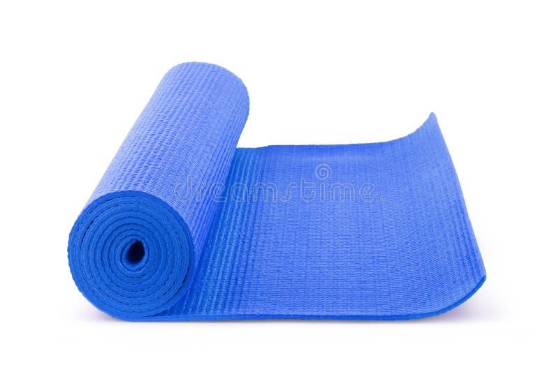 Μπλε γιόγκα χρώματος ματ στο υπόβαθρο στοκ εικόνα με δικαίωμα ελεύθερης χρήσης