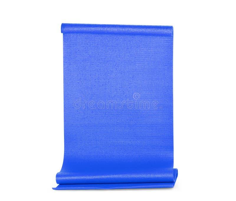Μπλε γιόγκα χρώματος ματ στο υπόβαθρο στοκ φωτογραφία με δικαίωμα ελεύθερης χρήσης