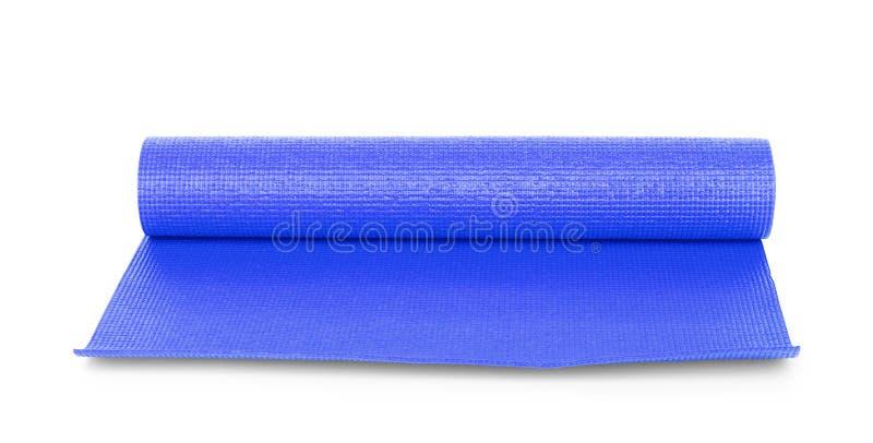 Μπλε γιόγκα χρώματος ματ στο υπόβαθρο στοκ εικόνα