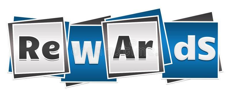 Μπλε γκρίζοι φραγμοί ανταμοιβών ελεύθερη απεικόνιση δικαιώματος