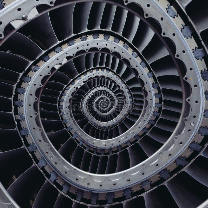 Μπλε γκρίζο βιομηχανικό αέρα τεχνών στροβίλων σχέδιο υποβάθρου λεπίδων σπειροειδές που διαστρεβλώνεται στην τετραγωνική μορφή Ασυ στοκ φωτογραφίες με δικαίωμα ελεύθερης χρήσης