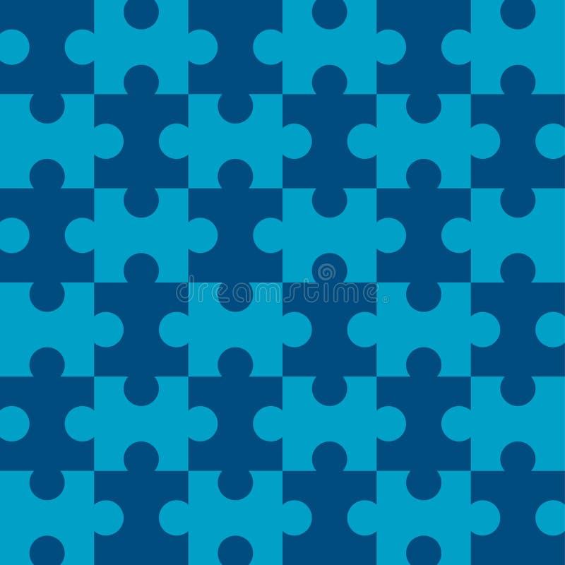μπλε γρίφος άνευ ραφής διανυσματική απεικόνιση