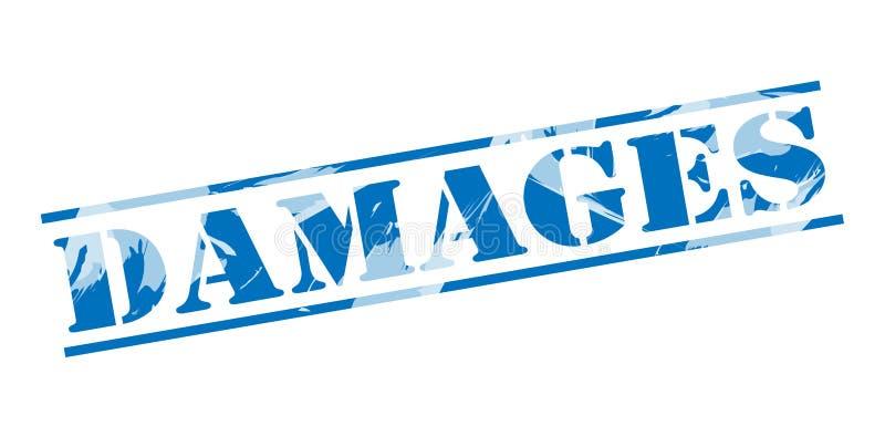 Μπλε γραμματόσημο ζημιών απεικόνιση αποθεμάτων