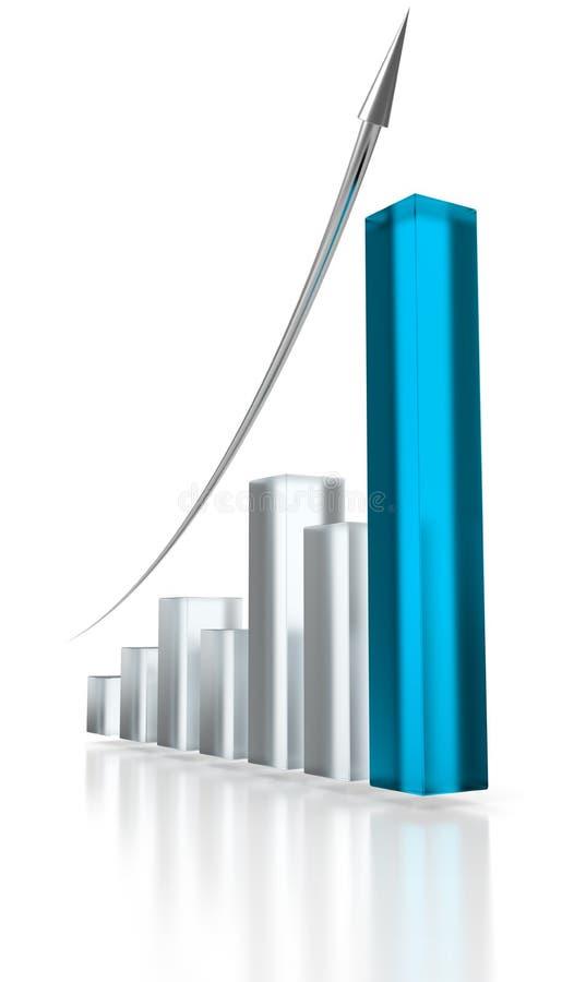μπλε γραφική παράσταση βελών επάνω απεικόνιση αποθεμάτων