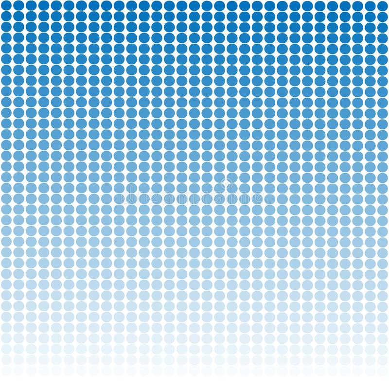 Μπλε γραφικό υπόβαθρο σχεδίου σχεδίων με τα άσπρα στρογγυλά σημεία διανυσματική απεικόνιση