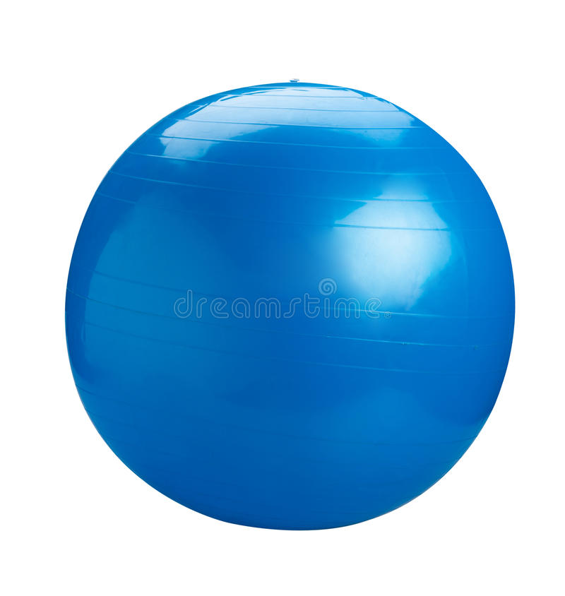 μπλε γυμναστική σφαιρών στοκ εικόνες