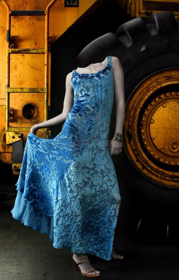 μπλε γυναίκα αγαλμάτων φ&omic στοκ φωτογραφία με δικαίωμα ελεύθερης χρήσης