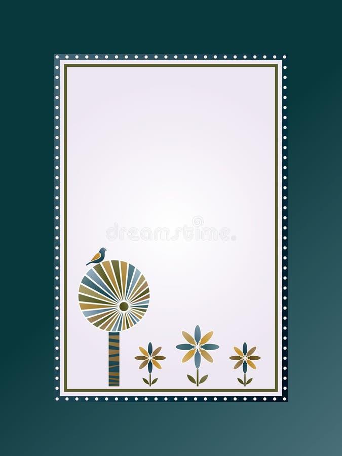 μπλε δέντρο λουλουδιών διανυσματική απεικόνιση