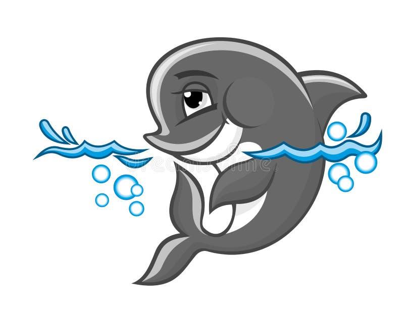 μπλε δελφίνι απεικόνιση αποθεμάτων