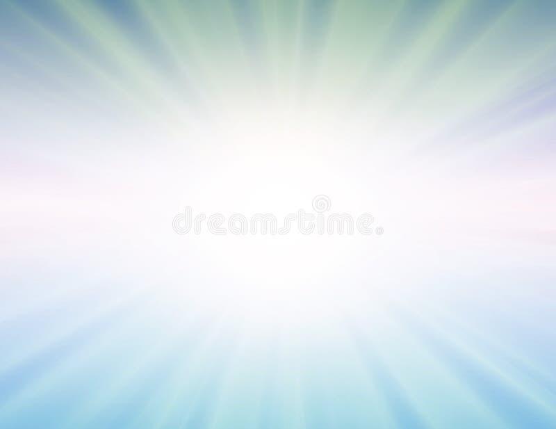 μπλε διάνυσμα ήλιων ανασ&kappa διανυσματική απεικόνιση