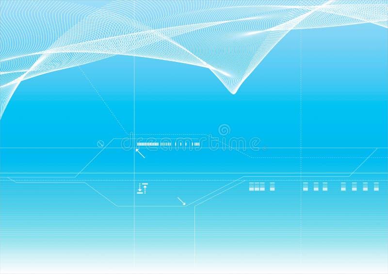 μπλε διάνυσμα ανασκόπηση&sig απεικόνιση αποθεμάτων