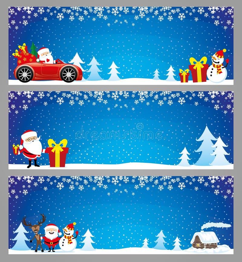 μπλε διάνυσμα απεικόνισης στοιχείων σχεδίου Χριστουγέννων εμβλημάτων ελεύθερη απεικόνιση δικαιώματος
