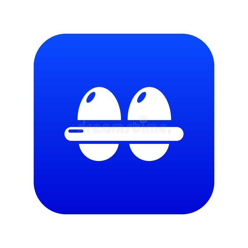 Μπλε διάνυσμα εικονιδίων αυγών ελεύθερη απεικόνιση δικαιώματος