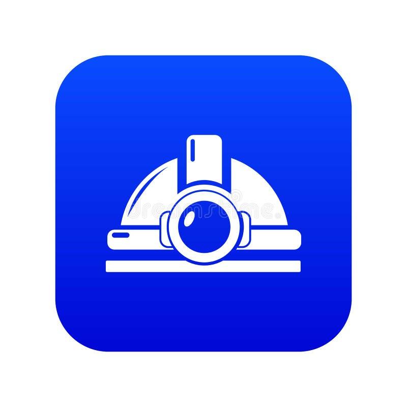 Μπλε διάνυσμα εικονιδίων κρανών μεταλλείας διανυσματική απεικόνιση