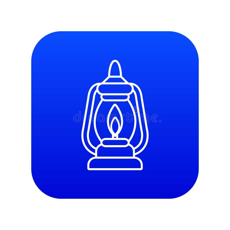 Μπλε διάνυσμα εικονιδίων λαμπτήρων μεταλλείας διανυσματική απεικόνιση