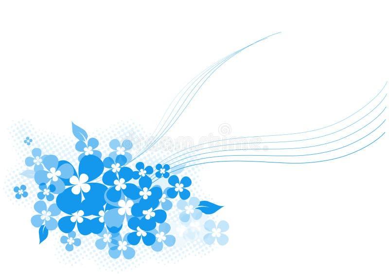 μπλε διάνυσμα λουλουδιών ελεύθερη απεικόνιση δικαιώματος