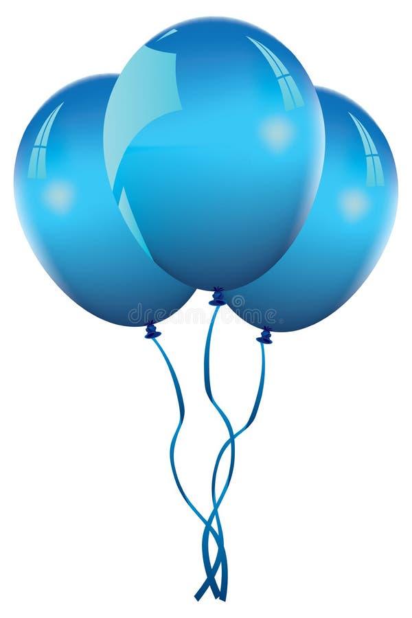 μπλε διάνυσμα μπαλονιών διανυσματική απεικόνιση