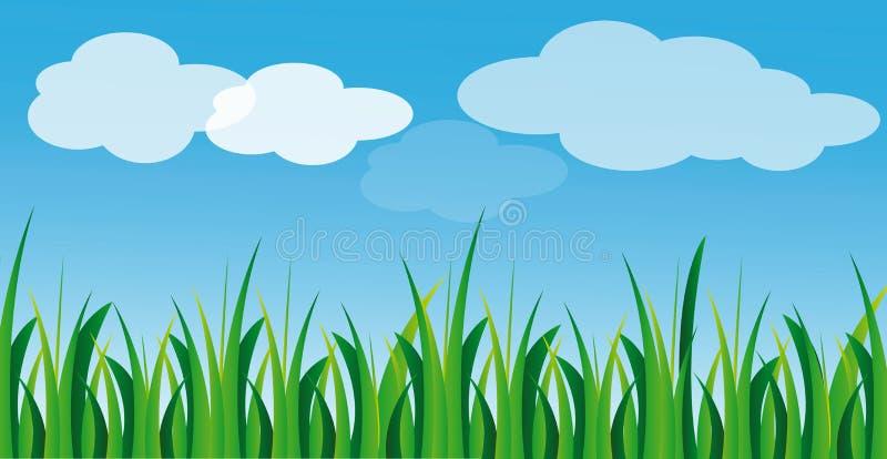 μπλε διάνυσμα ουρανού χλ απεικόνιση αποθεμάτων