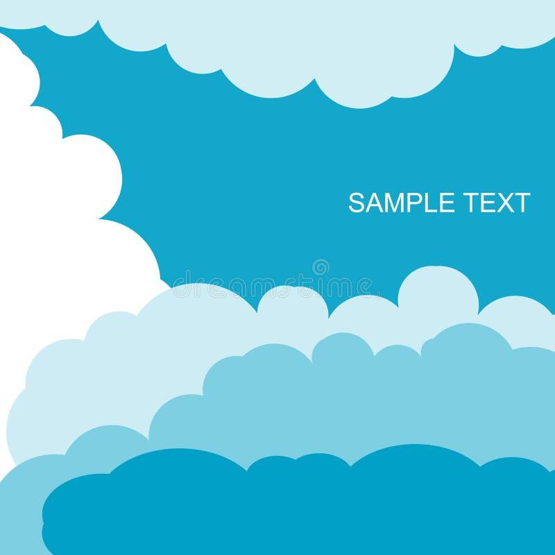 Μπλε διάνυσμα σύννεφων ελεύθερη απεικόνιση δικαιώματος