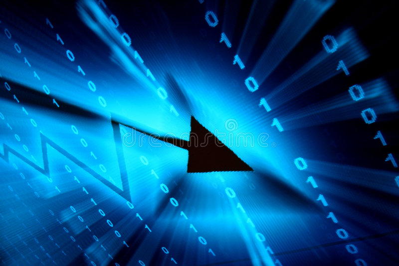 μπλε διάστημα στοιχείων διανυσματική απεικόνιση