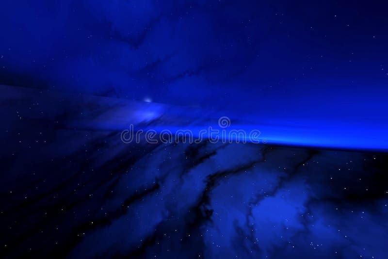 μπλε διάστημα απεικόνιση αποθεμάτων