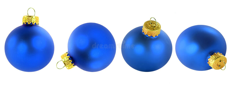μπλε διακοσμήσεις Χριστουγέννων στοκ εικόνα με δικαίωμα ελεύθερης χρήσης
