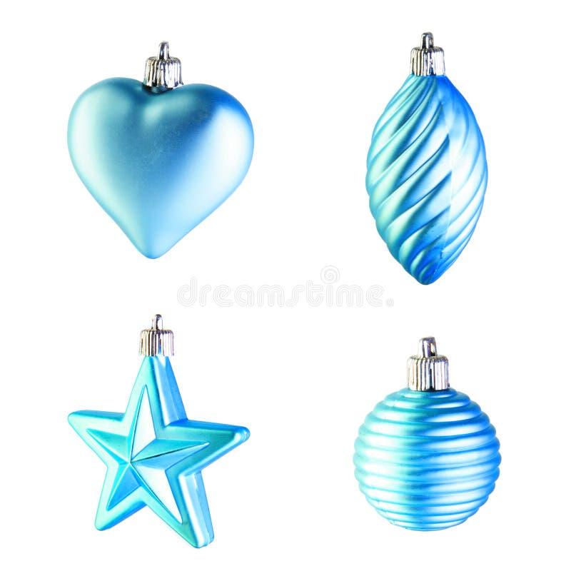 μπλε διακόσμηση Χριστου& στοκ φωτογραφία με δικαίωμα ελεύθερης χρήσης