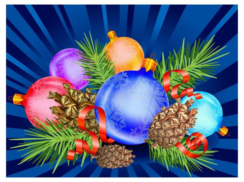 μπλε διακόσμηση διανυσματική απεικόνιση