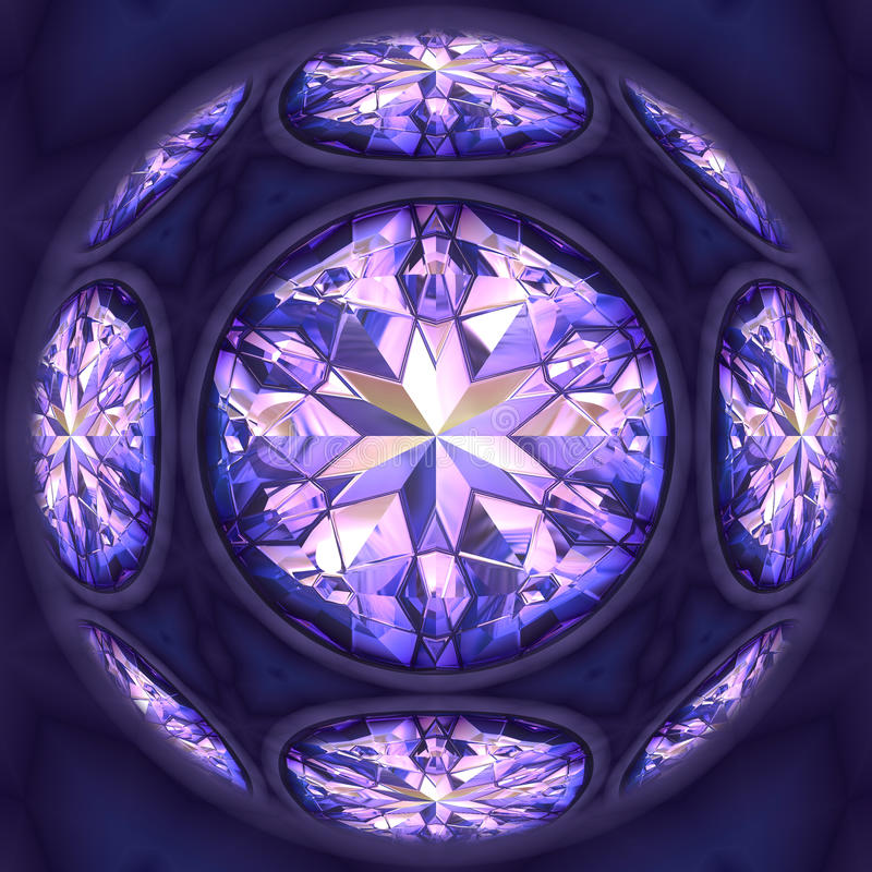 μπλε διαμάντια διανυσματική απεικόνιση