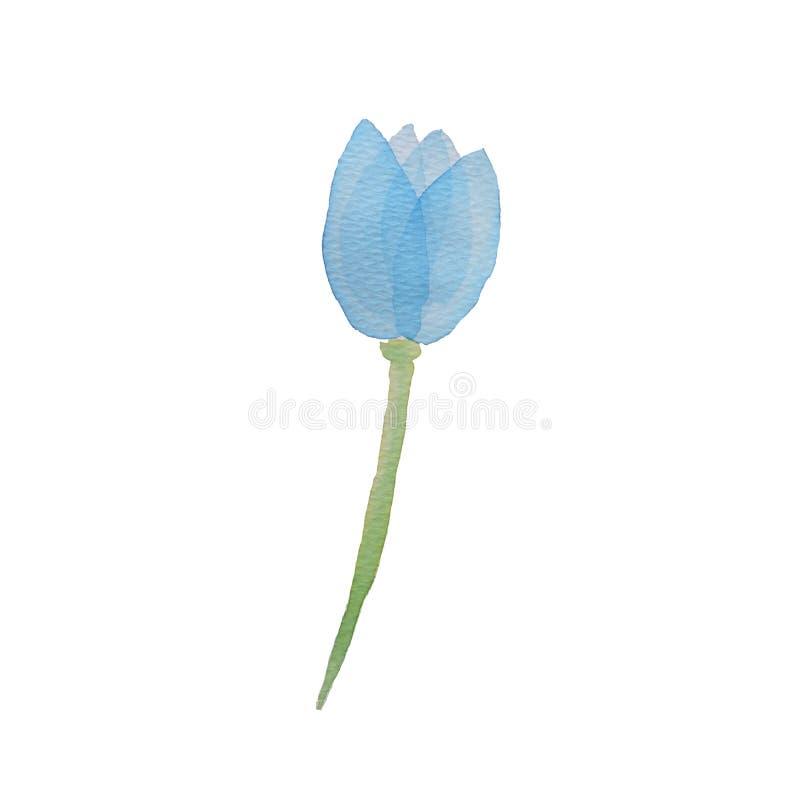 Μπλε διαφανές βαλμένο σε στρώσεις ροζ Watercolor ελεύθερη απεικόνιση δικαιώματος