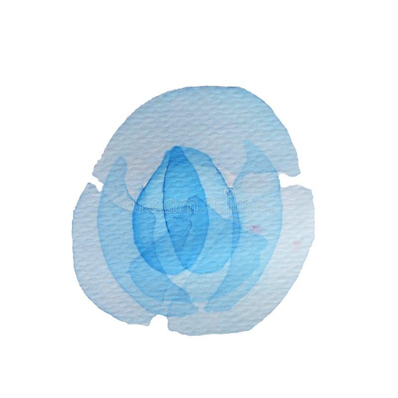 Μπλε διαφανής Watercolor απεικόνιση αποθεμάτων