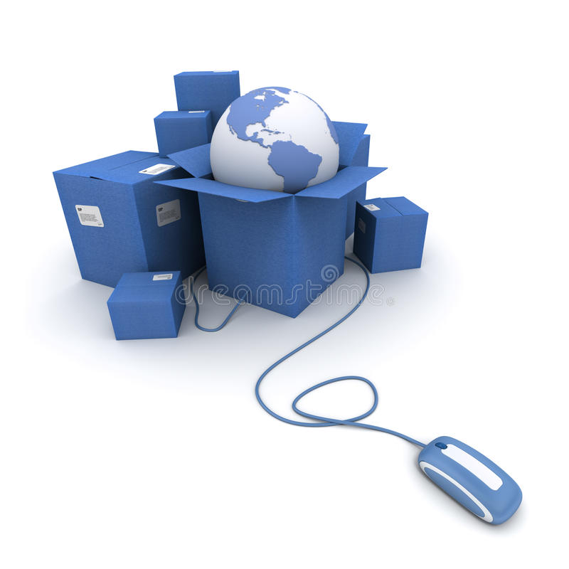 μπλε διεθνής σε απευθ&epsilon διανυσματική απεικόνιση