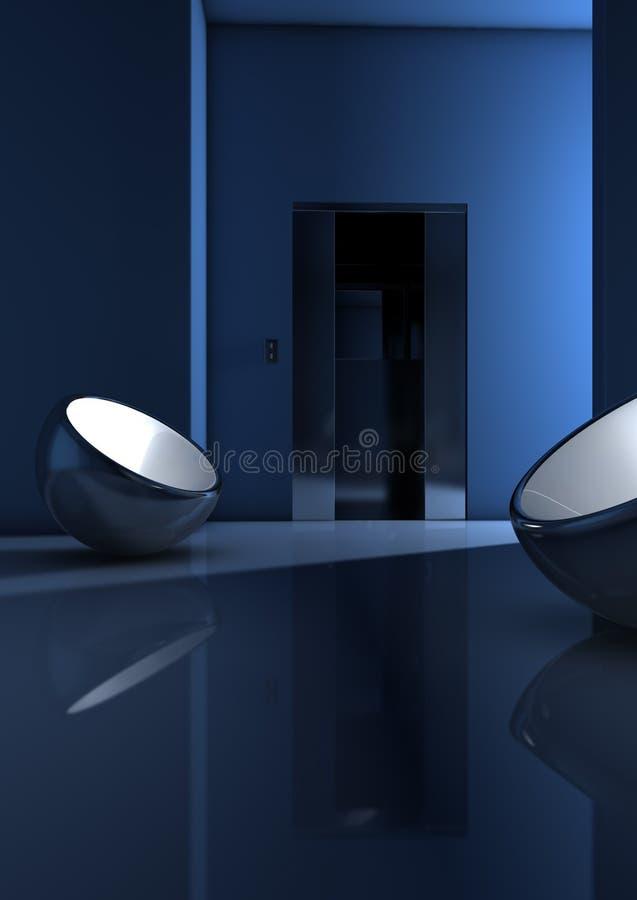 μπλε δωμάτιο ελεύθερη απεικόνιση δικαιώματος