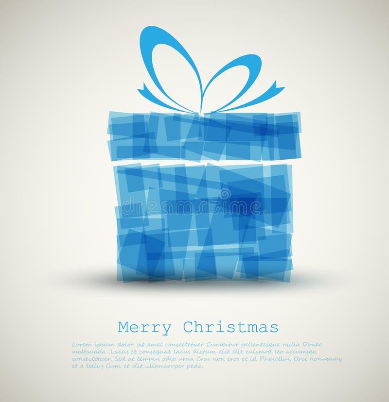μπλε δώρο Χριστουγέννων κ ελεύθερη απεικόνιση δικαιώματος